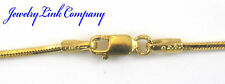 "14K Yellow Gold Diamond Cut Snake Chain 1.3mm 5.2grams 16"" Italian"