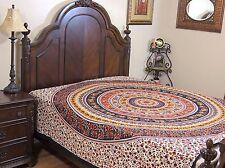 Mandala Elephant Reversible Duvet Cover Multicolor Cotton Print Comforter Double