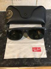 ffdca2f1351 Ray-Ban New Wayfarer RB2132 652 58 Matte Black Polarized Sunglasses