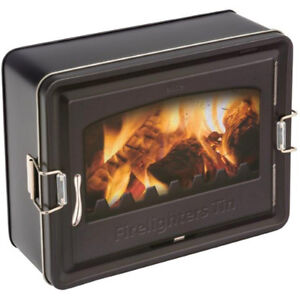 Elite Gift Boxes Firelighters Latched Rectangular Storage Tin NEW