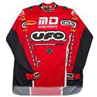 UFO Racing Motocross Long Sleeve Jersey Size XL Vintage MX 9 Jones #37 Red Black