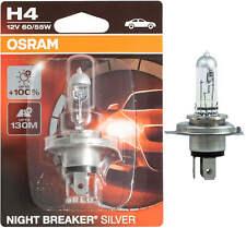 1X H4 12V Scheinwerfer Lampen Halogen Osram Night Breaker Silver Birne Auto 55W
