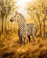 African Zebra giclee print by Richard R. Nervig