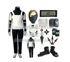 Naruto Hatake Kakashi Cosplay Costumes Outfit+shoes+Gloves+weapon+bag+headband
