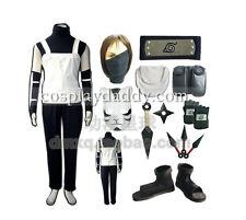 Naruto Hatake Kakashi Cosplay Costumes Outfit+shoes+Gloves+weapon+bag+headband