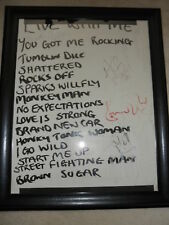 ROLLING STONES HANDWRITTEN SETLIST SIGNED BY 4 EXACT PROOF! MICK JAGGER COA RARE