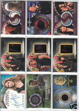 TRADING CARDS:Planche N° 5  COSTUMES,AUTOGRAPHS  divers