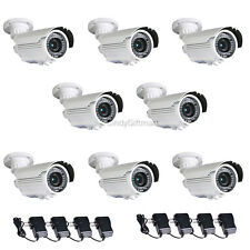 8 Built-in Sony Effio CCD Security Camera 700TVL Varifocal with Power Supply CMP