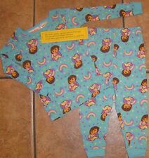 Baby Girls~Aqua DORA the Explorer PAJAMAS SET~size 18 month~NWT~2 piece~Top Pant