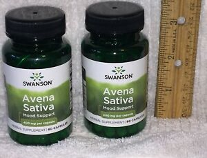 TWO, Avena Sativa (Green Oat Grass) (Swanson) 120 capsules (total), 400 mg each