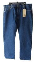 Levis 501 New Mens 40 x 32 Blue Dark Wash Button Fly Straight Leg Jeans