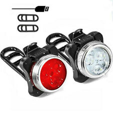 2x USB Rechargeable LED Bicycle Bright Bike Front Headlight Rear Tail Light Ip65