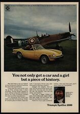 1973 TRIUMPH SPITFIRE 1500 Convertible - WWII ACE PILOT GINGER LACEY VINTAGE AD