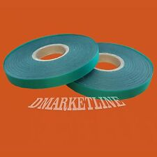 "2 Green Vinyl 300 FEET x 1/2"" 4 mil Stretch Tie Tape Plant Stretchy Ribbon Garde"