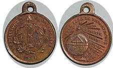 IIe Rép, Médaille cuivre de Houzelot, Paris, 1848, Elle fera le tour du Monde