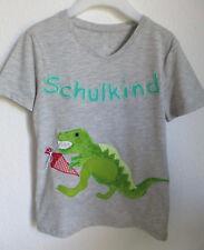 Schulkind-Shirt mit Applikation *T-REX* Unikat, Gr.128 NEU