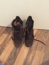 Gorgeous Dark Brown Lace Up Ankle Boots Mango Size 3
