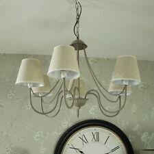 Lampadari da soffitto in tessuto grigio salotto