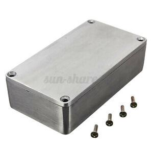 """4.4x2.5x1.3"""" Aluminum Electronics Enclosure Project Box Case Metal Guitar  # +"""