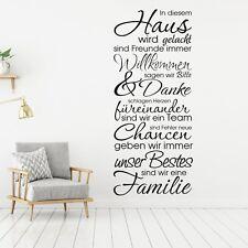Wandtattoo In diesem Haus Wandsticker Wandaufkleber Familie Spruch  KW001