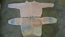 Babies Hand Knitted 3-6 Months Cardigans x 2