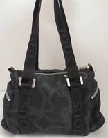 Tous Black Logo Nylon Canvas Small Satchel Bag