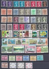 Uk Gb 1950's 1970's Collection Of 165 Queen Elizabeth Issues Includes Color Shad