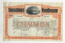 Consolidated Water Company Stock Certificate
