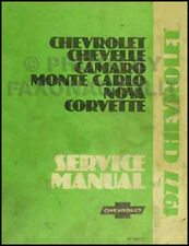 1977 Chevy Shop Manual El Camino Chevelle Monte Carlo Malibu OEM Repair Service