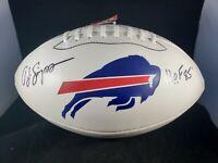 """O.J Simpson Signed Autographed Buffalo Bills Football """"HoF 85"""" JSA COA"""