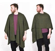 Mens Womens Acrylic Khaki Marl CAPE/poncho/wrap 70% off