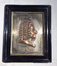 Framed Johann Sebastian Bach Copper Relief