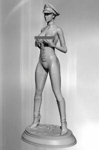 1/24 75mm Resin Figure Model Kit Sexy German Officer Elsa Soldier WW2 Unpainted