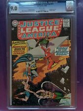 JUSTICE LEAGUE OF AMERICA #31 CGC VF/NM 9.0; White pg!; Hawkman joins JLA!