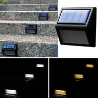 6-LED Solar Powered Sensor Wall Stair Light Outdoor Garden Yard Lamp Waterproof