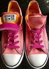 Converse Pink Double Tongue Low Trainers Pumps UK4 BN Boxed
