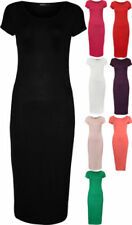 Viscose Stretch Solid Dresses for Women