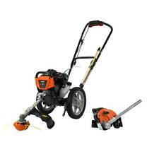 Powermate 43 cc Gas Wheeled String Trimmer Plus Edger Attachment Combo Kit 2-Too
