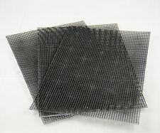 """3 Sheets Plastic Drainage Mesh / Screen / Net for Bonsai Pot - 7.8""""x 11.8"""" Black"""