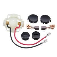 For Makita BGA450 BGA452 DGA452 Brush Holder + Carbon Brushes & Cap Replacement