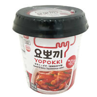 Yopokki Spicy Topokki (Rice Cake) instant Pouch Rice cakes with Spicy sauce