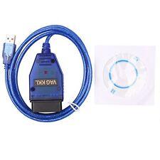COM Interface Scan K-Line KWP2000 VAG OBD2 OBDII USB KKL VAGCOM 409.1 Cable