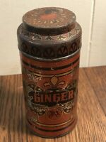 """Vintage YM Metal GINGER Spice Can/Canister 5.5"""""""