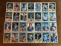 1988 KANSAS CITY ROYALS Topps COMPLETE Baseball Team SET 28 Cards BRETT JACKSON!