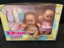 Lots To Love Babies Set Of 2 Baby Dolls & Accessories 1999 Berenguer Vintage New