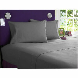 1000 Thread Count Egyptian Cotton New Bedding Items Sizes Dark Grey Solid