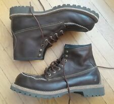 FRYE DAKOTA MID LACE BOOTS 10.5 BROWN LEATHER WORK 87327
