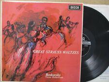 SXL 6029 WBG ED2 UK- Great Strauss Waltzes BOSKOVSKY VPO LP EX+