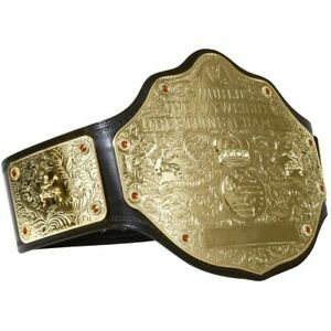 WWE Heavyweight Big Gold Championship Wrestling Replica Leather Title Belt 2mm