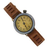 Charmer Hirsch Swiss Silver Enamel Brown Leather Band Ladies  Manual Wind Watch